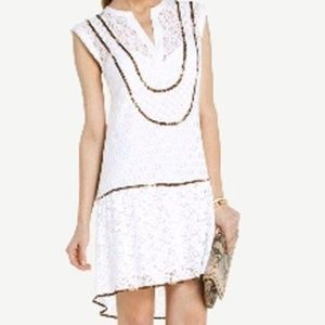 BCBG Max Azria White Lace Harlow Dress